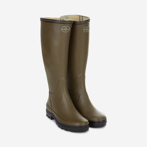 Giverny jersey lining green ladies boots