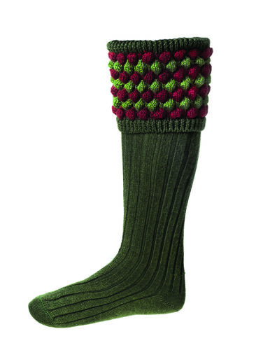 Chaussettes ANGUS spruce + garters