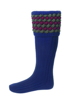 Chaussettes ANGUS navy + garters