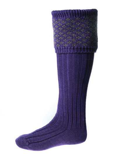 Chaussettes BOUGHTON thistle/dark olive + garters