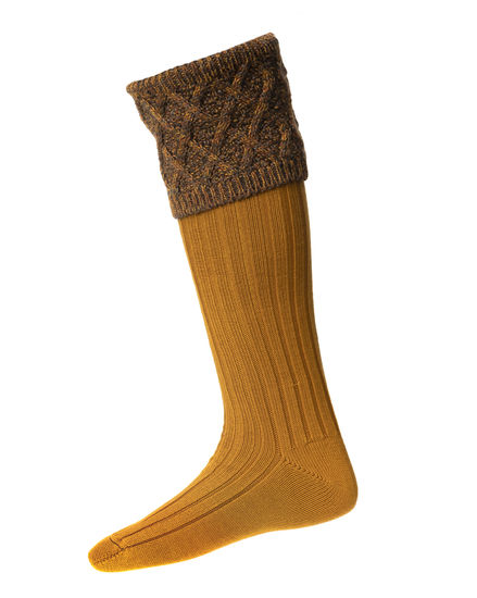 Chaussettes FORRES ochre + garters