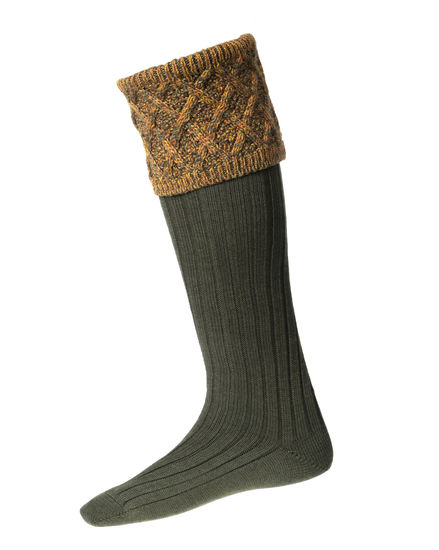 Chaussettes FORRES spruce + garters