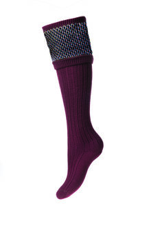 Chaussettes Lady TAYSIDE burgundy