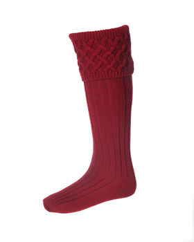 Lady rannoch breeks red or brown socks