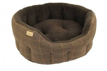 Tweed dog brown bed 3 size
