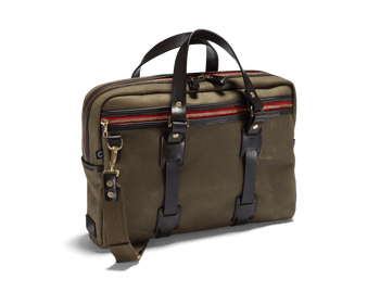 Vintage canvas laptop bag