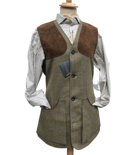 Gilet tweed Moorland blue purple