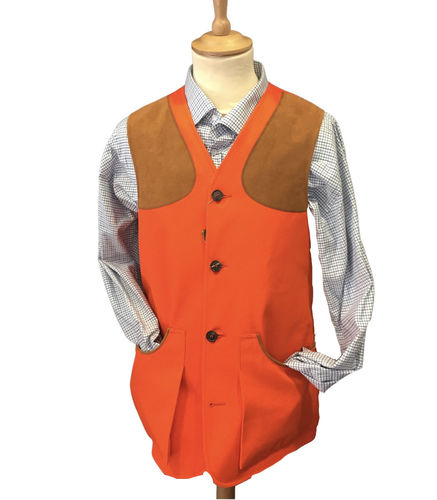 Moorland orange cotton vest
