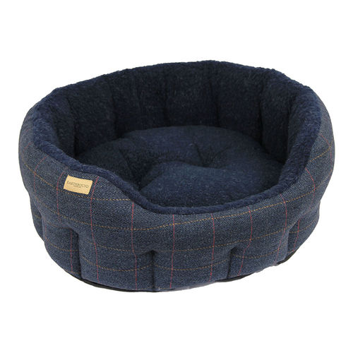 Tweed dog navy bed 3 size
