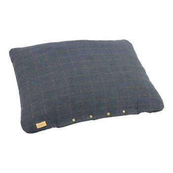 Tweed navy dog cushion 3 size