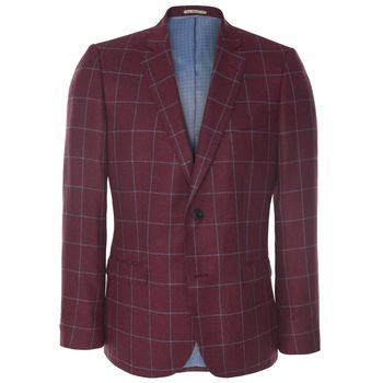 Raspberry tweed jacket