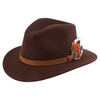 Brown Richmond unisex felt hat