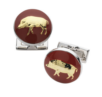 Wildboar orange cufflink