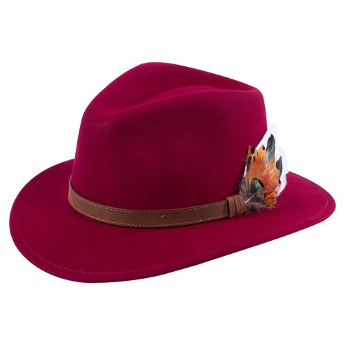 Wine Richmond unisex felt hat