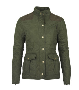 Hampton green quilt ladies jacket