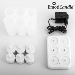 Set 6 Bougies LED rechargeables