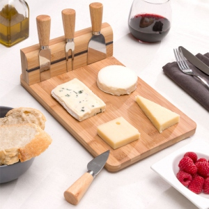 Plateau fromage Bambou avec range-couverts