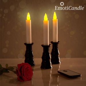 Set de 3 Chandelles LED Romantique
