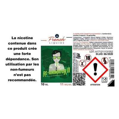 E-liquide Le French Liquide Re-Animator 2 , 3 X 10 ml