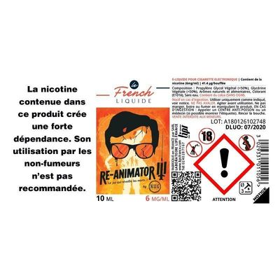 E-liquide Le French Liquide Re-Animator 3 x 10 ml