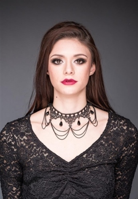 Collier Queen of Darkness Gothique
