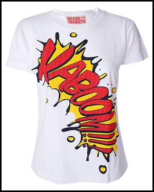 Tee shirt darkside Cartoon Slogan Kaboom