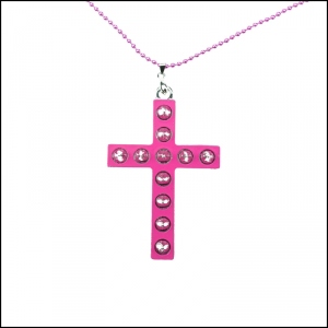 CUPCAKE CULT COLLIER GLAM CROSS rose