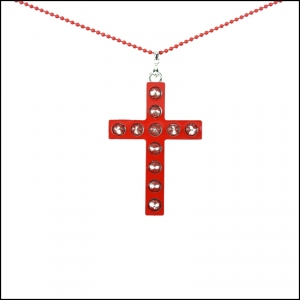 CUPCAKE CULT COLLIER GLAM CROSS rouge