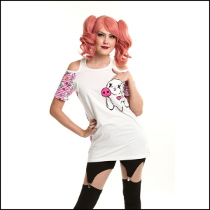 TEE SHIRT TOP LUV BUNNY