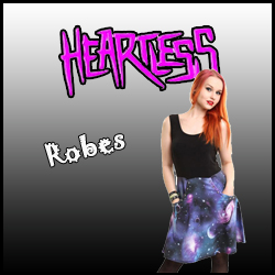 ROBES HEARTLESS CLOTHING rock punk gothique
