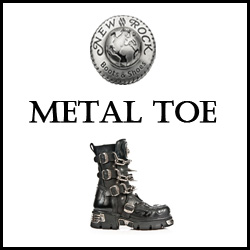 CHAUSSURES NEW ROCK METAL TOE