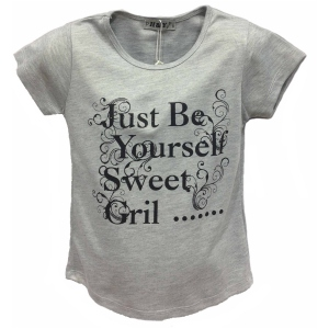 "T-shirt ""Just Be Yourself Sweet Girl"" pour fille"
