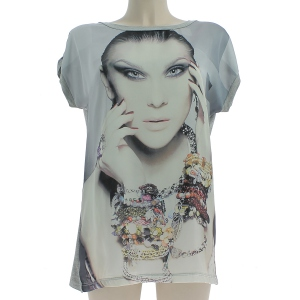 T-shirt en vogue avec motif photo