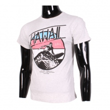 "T-shirt imprimé vacances ""Hawaii"" gris"