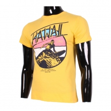 "T-shirt imprimé vacances ""Hawaii"" jaune"