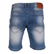 Short jean à multiples poches style cargo
