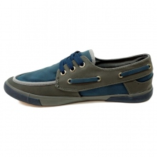 Tennis style chaussures bateau grey/navy