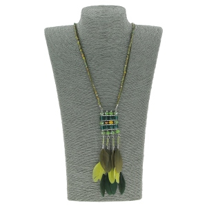 Collier long sautoir inspirations ethniques