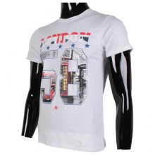 "T-shirt blanc encolure rond imprimé ""LONDON 58"""