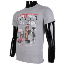"T-shirt gris encolure rond imprimé ""LONDON 58"""