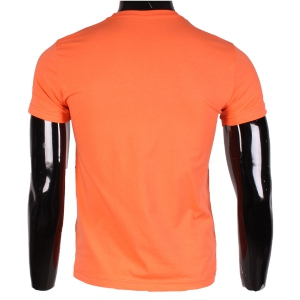 T-shirt homme encolure ronde coloris orange