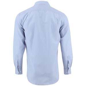 Chemise coupe droite gris à rayures blanches
