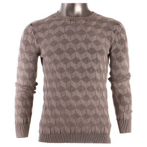 Pull homme encolure ronde manches longues
