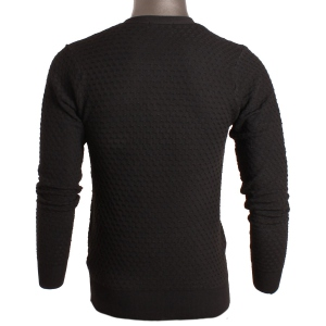 Pull homme col tunisien coupe cintrée