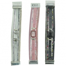 Assortiment bracelet strass multi-rangs avec aimant