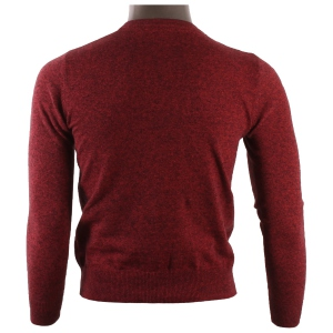 Pull col rond pour homme 100% coton rouge