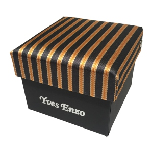 Coffret cravate à motifs orange