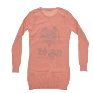 Robe pull manches longues imprimé animal rose