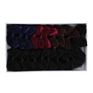 Assortiment barrette double noeud avec filet chouchou