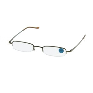 Lunettes de lecture demi cerclées rectangle marron